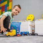 zabawa pociąg Klockolandia dla dzieci atrakcje nad morzem Pensjonat